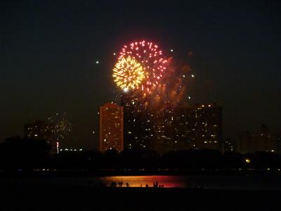 artificii la lac